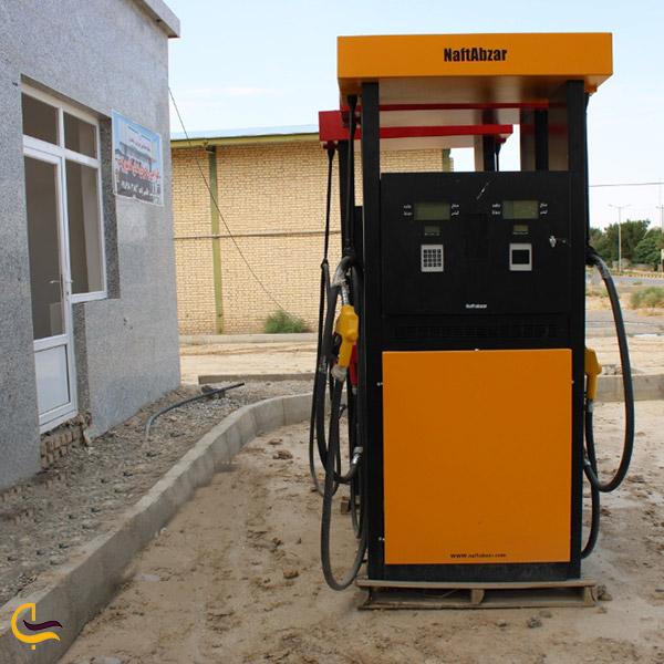 نمایی ازپمپ بنزین روستای قینرجه