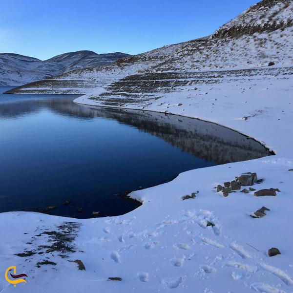 عکس برفی از دریاچه تار
