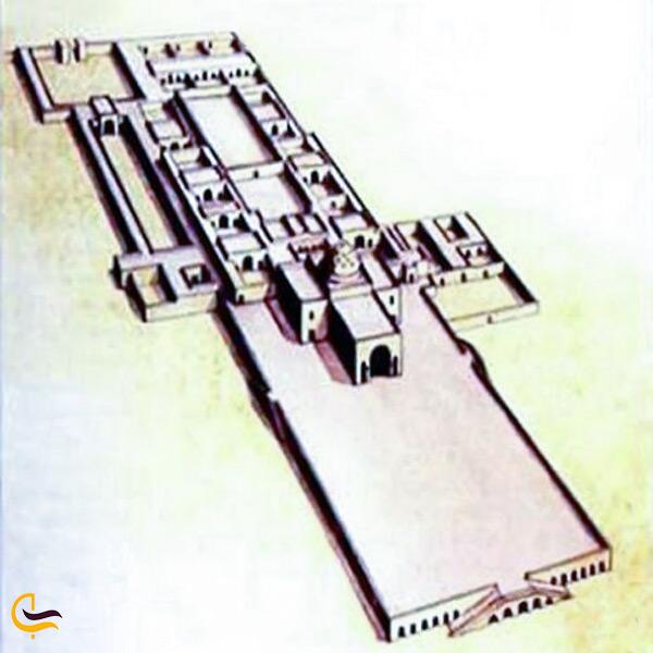 نقشه و پلان اصلی کاخ خسرو قصر شیرین