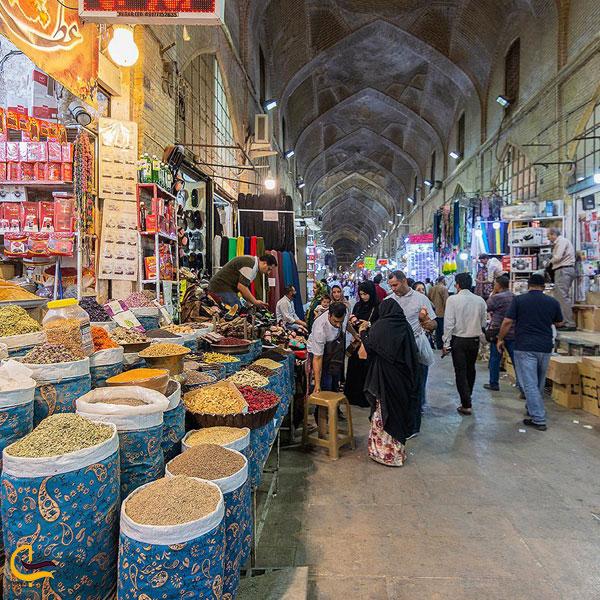 تصویری از مغازه در بازار وکیل شیراز