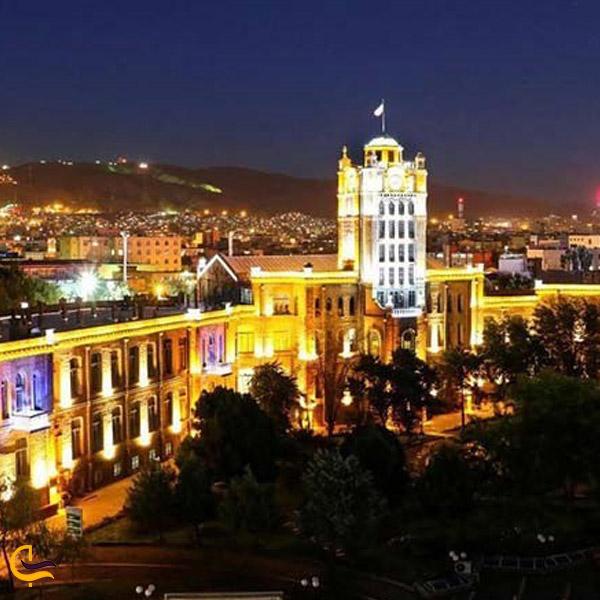 نمایی از بالای شهر تبریز