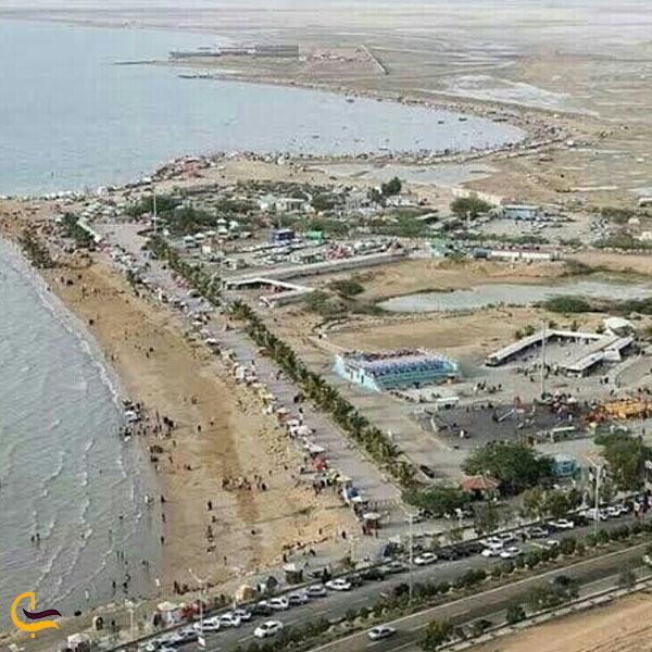 تصویری از بالای شهر چابهار