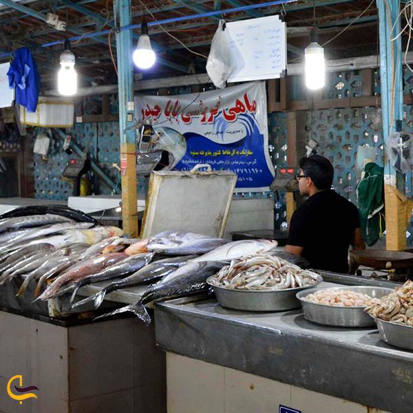 بازدید از بازار ماهی بندر گناوه