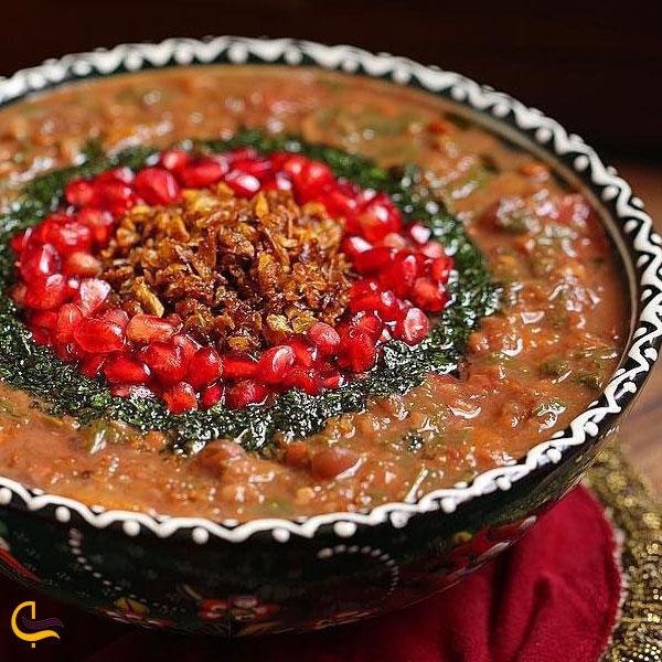 تصویری از آش انار غذای محلی کلیبر