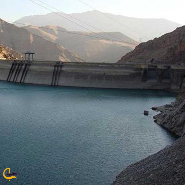 تصویری از دریاچه سد جیرفت