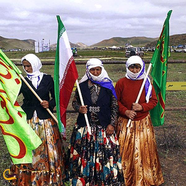 تصویری از لباس محلی زنان کلیبر