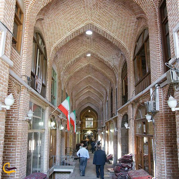 تصویری از دالان حاج شیخ بازار تبریز