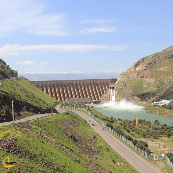 تصویری از تاریخچه ساخت سد منجیل