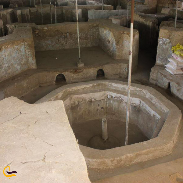 عکس حمام بزرگ کنگاور
