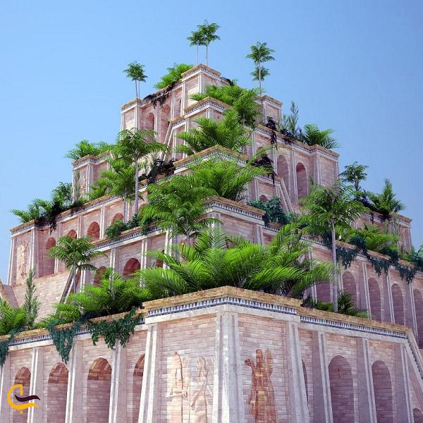 عکس گیاهان سرسبز باغ های معلق بابل