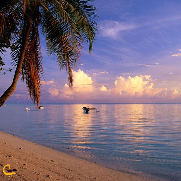 تصویری از ساحل زیبای ماتیرا بورا بورا