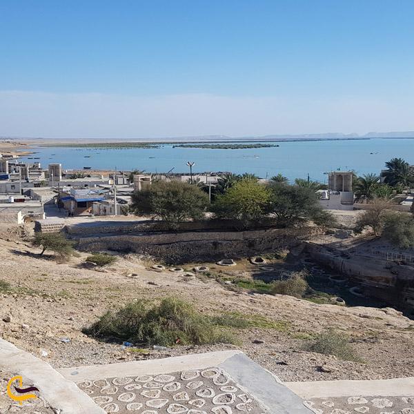 تصویری از بام روستای لافت