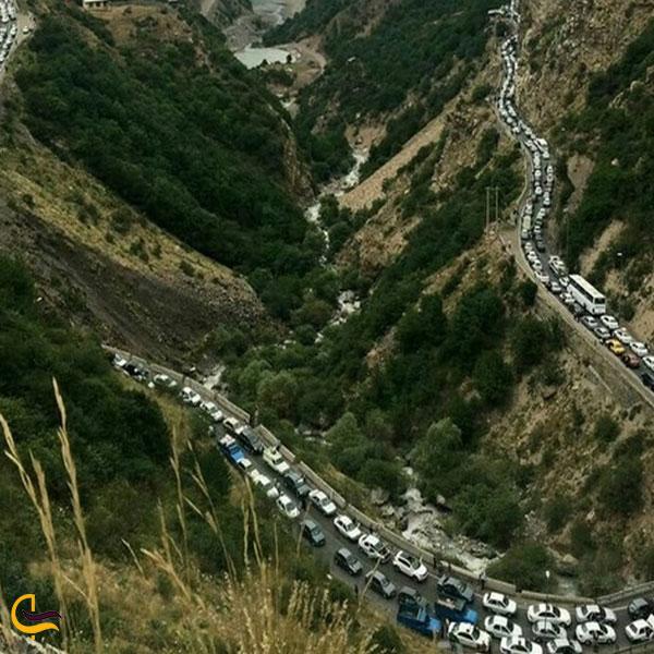 تصویری از جاده چالوس