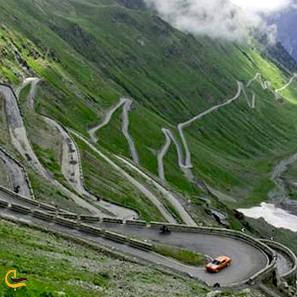 تصویری از جاده زنجان منجیل