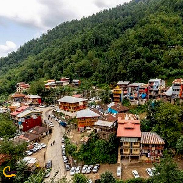 نمایی از روستای شفت