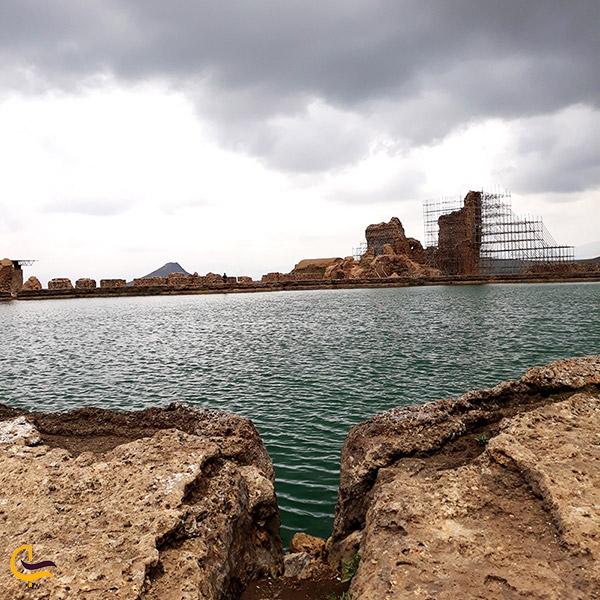 عکس دریاچه تخت سلیمان