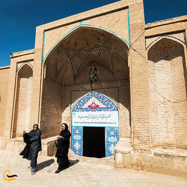 عکس ورودی دوم شهر زیرزمینی نوش آباد