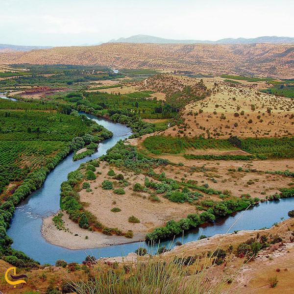 عکس رودخانه زاب