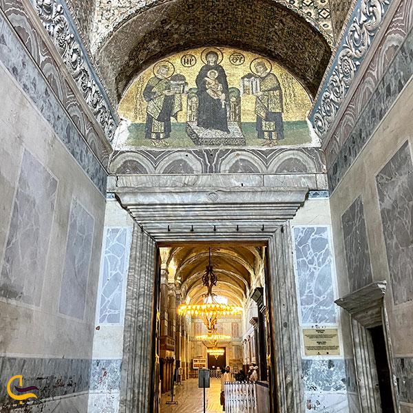 عکس معماری داخلی مسجد ایاصوفیه ترکیه