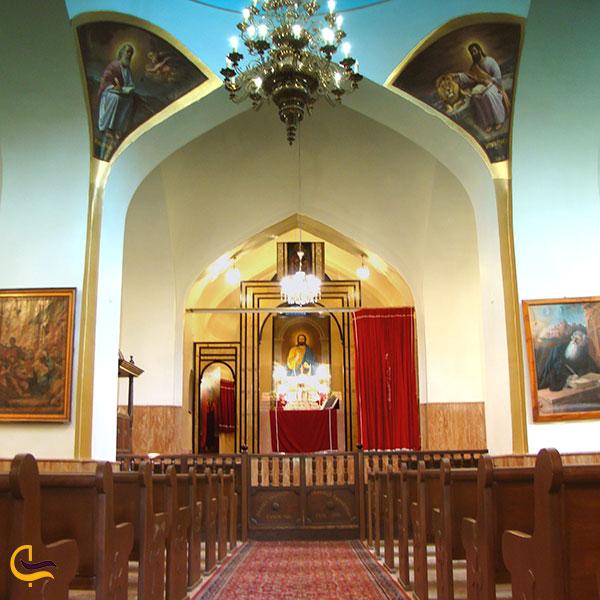 عکس فضای داخلی موزه کلیساهای خلیفه گری ارامنه آذربایجان