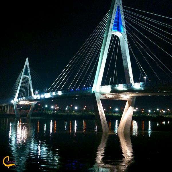 عکس نورپردازی پلهای اهواز