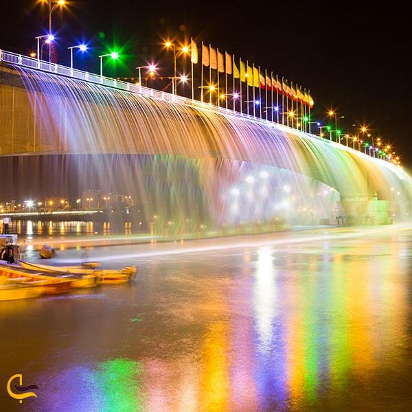 عکس نورپردازی شب در پلهای اهواز
