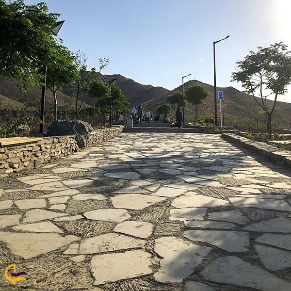 عکس مسیر سنگفرش مجموعه تفریحی کوهشار مشهد