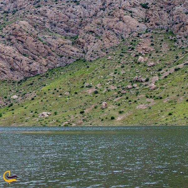عکس دریاچه سد ساوه