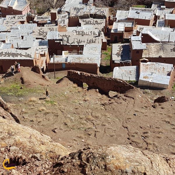 تصویری از خانه های تاریخی روستای ابیانه