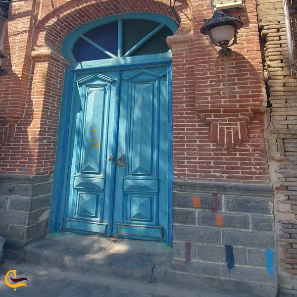 تصویری از در ورودی حمام تاریخی شیخ