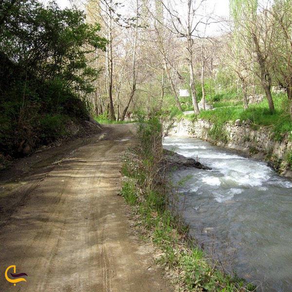 عکس رودخانه های روستای آغشت کرج