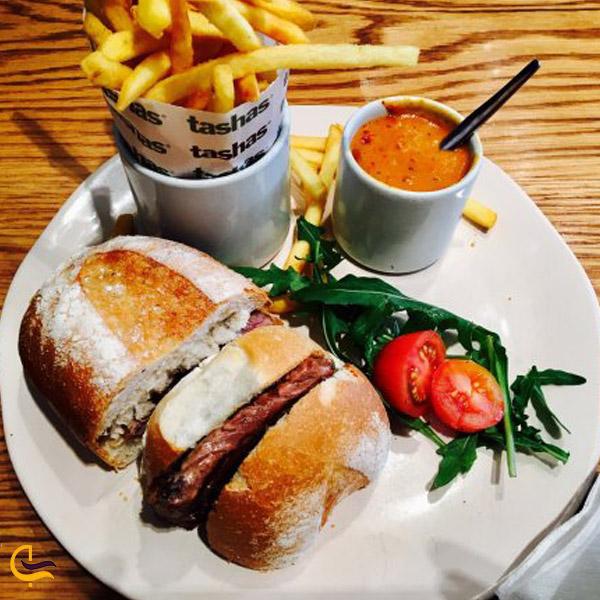 نمایی از غذای رستوران Tashas