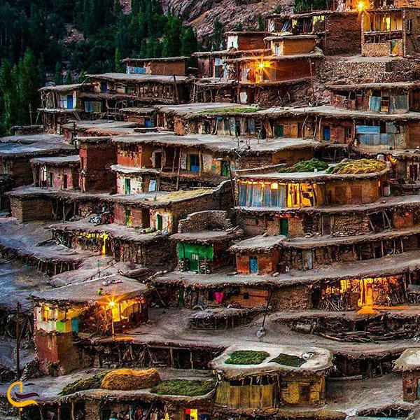 عکس بافت کوچه های روستای سر آقا سید
