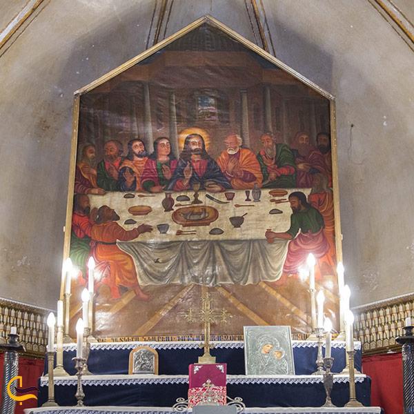 تصویری از شاهکارهای هنری کلیسا مریم مقدس