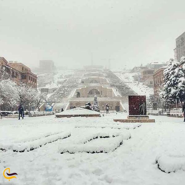 تصویری از زمستان ارمنستان