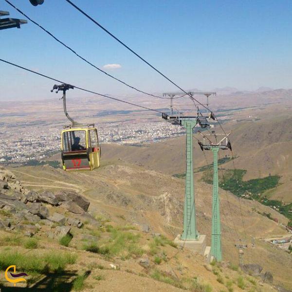 تصویری از تله کابین گنجنامه همدان