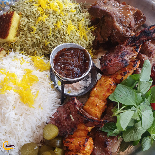تصویری از غذای رستوران عنبران مشهد