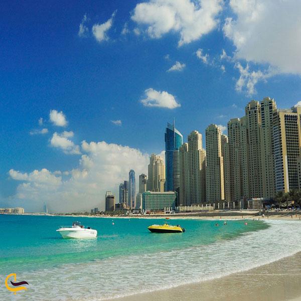 نمایی از ساحل جمیرا دبی