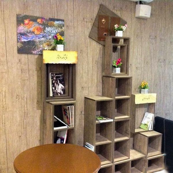 عکس بخشی از کافه کتاب امیرکبیر