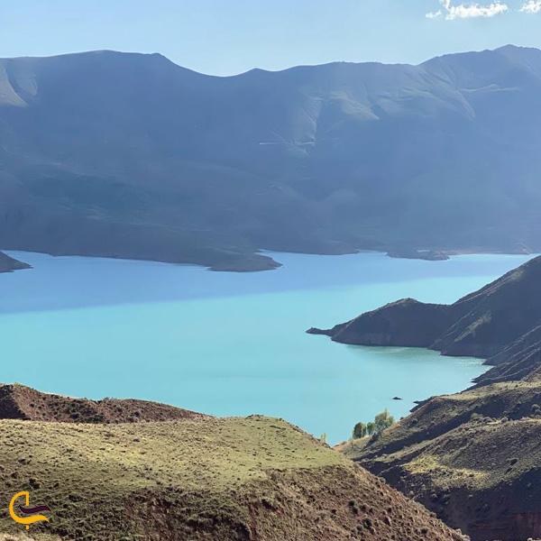 تصویری از دریاچه سد طالقان