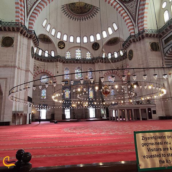 عکس سالن اصلی مسجد سلیمانیه