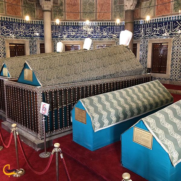 عکس مقبرههای مسجد سلیمانیهاستانبول