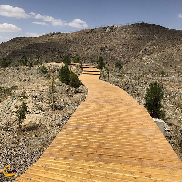 عکس مسیر پیادهروی چوبی