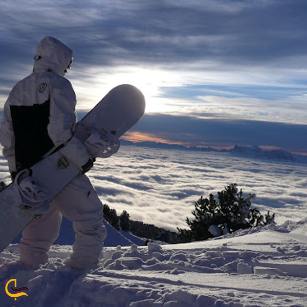 تصویری از پیست اسکی بینالمللی نسار
