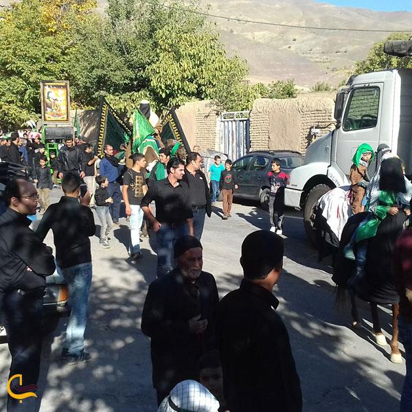 تصویری از برگزاری مراسم مزهبی روستای دررود