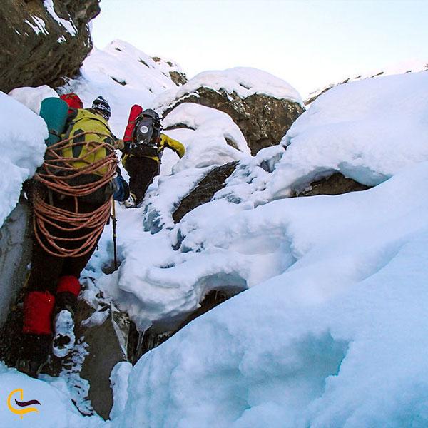 عکس آبشار یخی آبنیک
