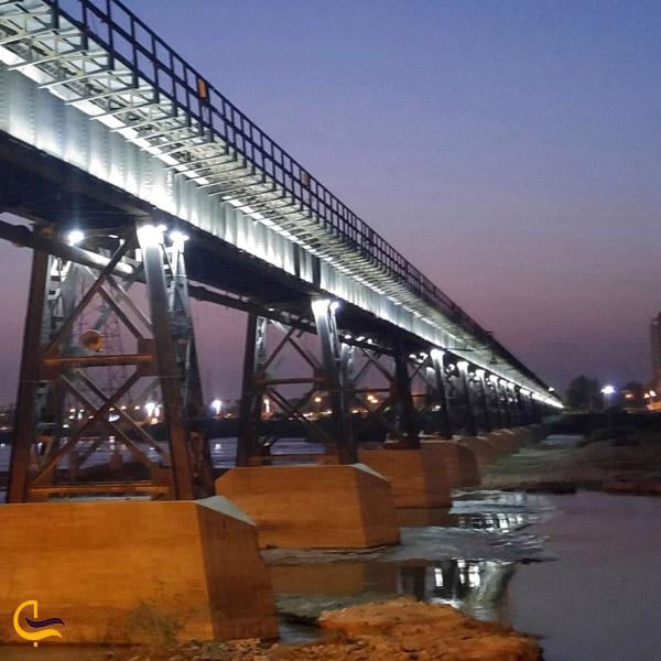 تصویری از پل سیاه اهواز