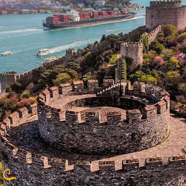 عکس معماری قلعه روملی حصار استانبول