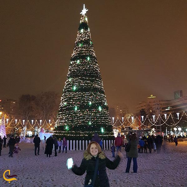 عکس کریسمس درمیدان آزادی ایروان