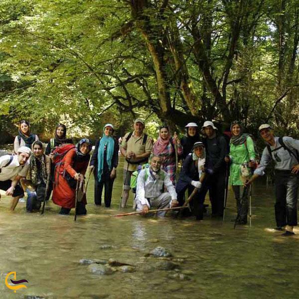 عکس مسیر پیاده رودی آبشار برگ جهان